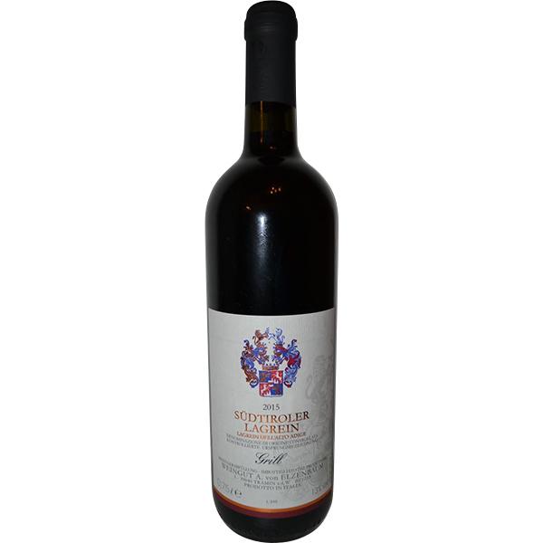 """Eine Flasche Rotwein """"Lagrein Südtirol 2015"""""""