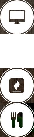 Icons, die den Bestellprozess von Gourmetgänsebraten erklären.